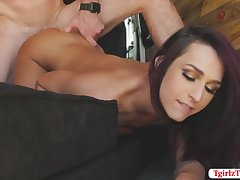 Latina Transbabe Khloe Kay gets anal in the middle of hte desert