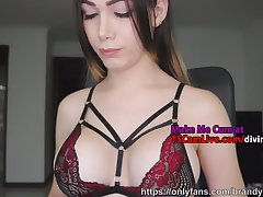 Colombian Cute Busty Shemale Teen Live on WebCam, Part 4